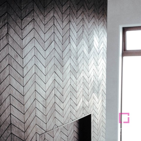 Black Chevron Mosaic 300x230
